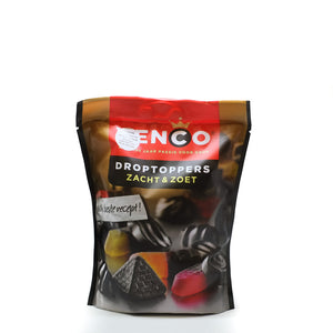 Venco Droptoppers Liquorice Soft & Sweet 255gr