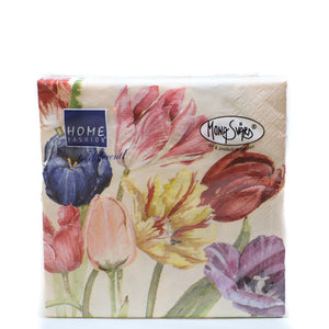 Home Fashion Serviettes Flowers