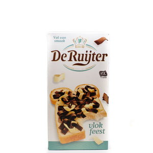 De Ruijter Milk & White Chocolate Flakes 300gr