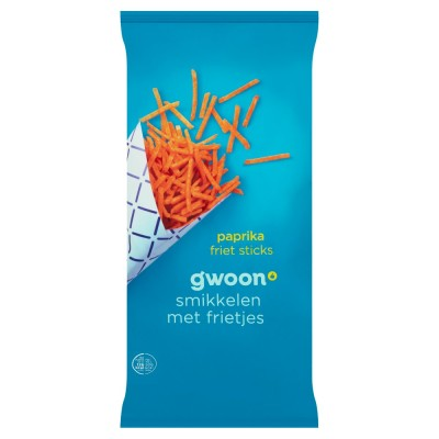 G'woon Paprika Potato Sticks 150gr