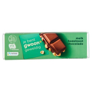 G'woon Hazelnut Chocolate Bar 100g