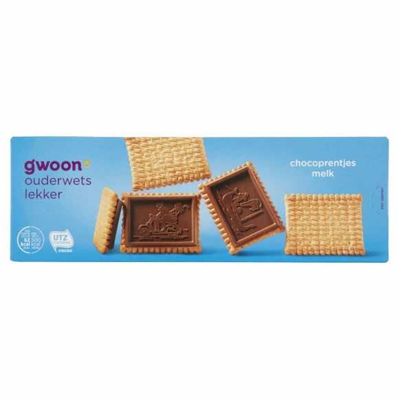 G'woon Milk Chocolate Coated Biscuits 150gr