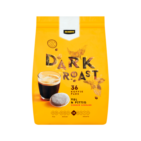 Jumbo Coffee Pads Dark Roast 250gr