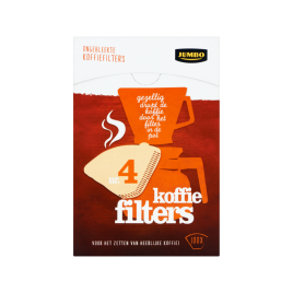 Jumbo Coffee Filters ×100 Size 4