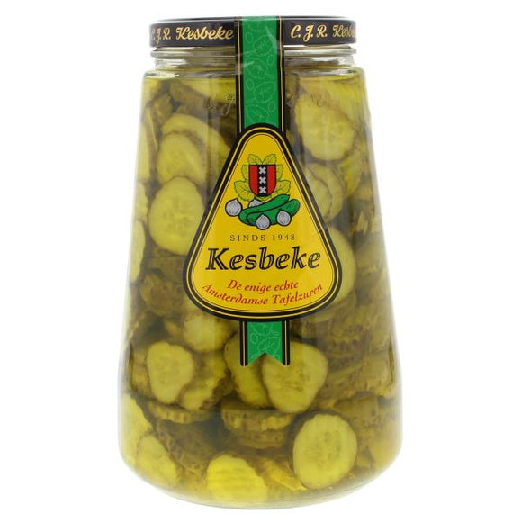 Kesbeke Amsterdam Gherkin Slices 370ml