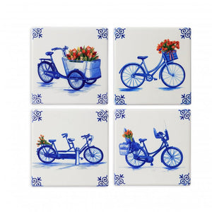 Coasters, Bicycles set of 4