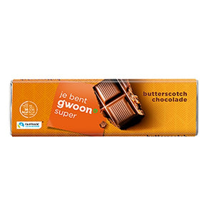 G'woon butterscotch chocolate bar 100g