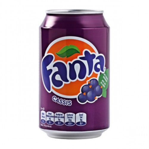 Fanta cassis in tin 330ml