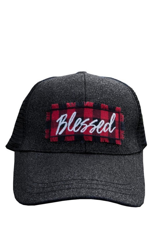 Buffalo Plaid Blessed Sparkle Hat