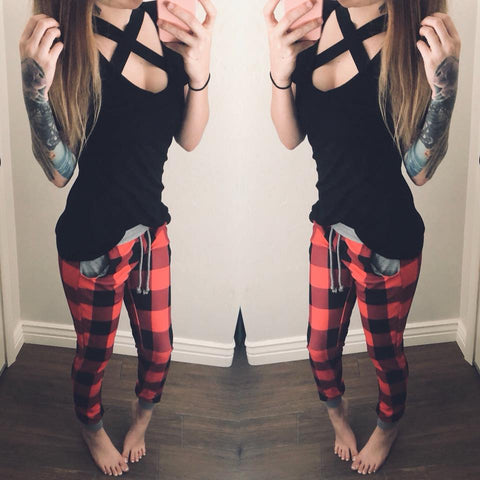 XXX Buffalo Plaid Joggers