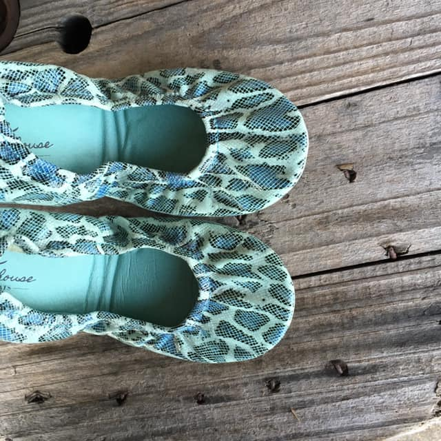 Storehouse Flats - **special edition Sea Foam Snakeskin**