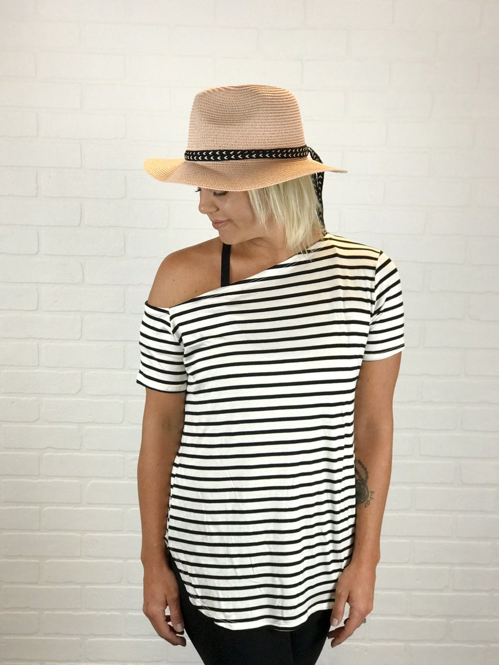 Kiera Striped Off Shoulder Top