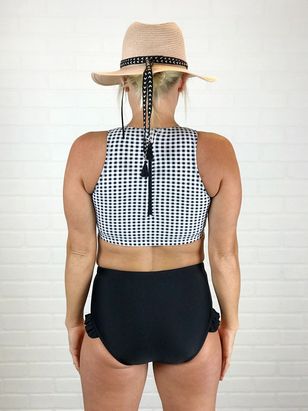 Coral Reef Separates - Checkered Sports Top