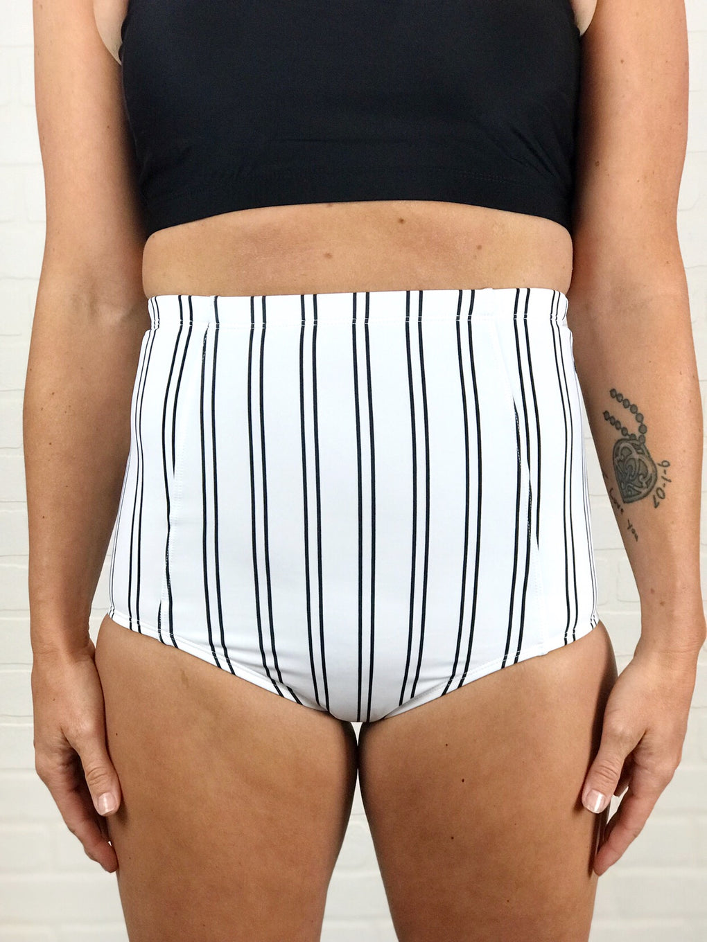 Coral Reef Separates - Striped High Waist Bottoms