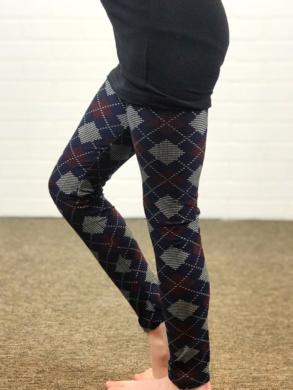 Kids Argyle Leggings