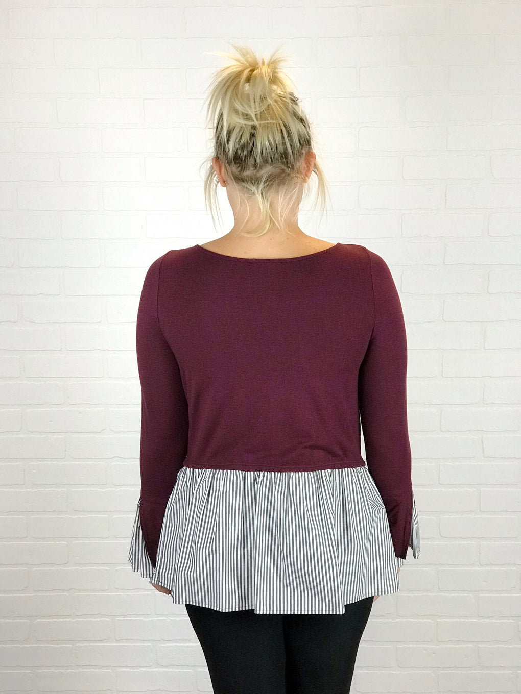 COURTNEY LONG SLEEVE LAYERED TOP