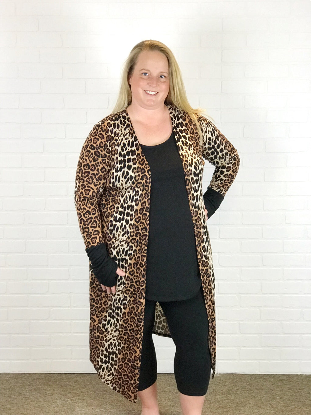 Cheetah Thumbhole Duster