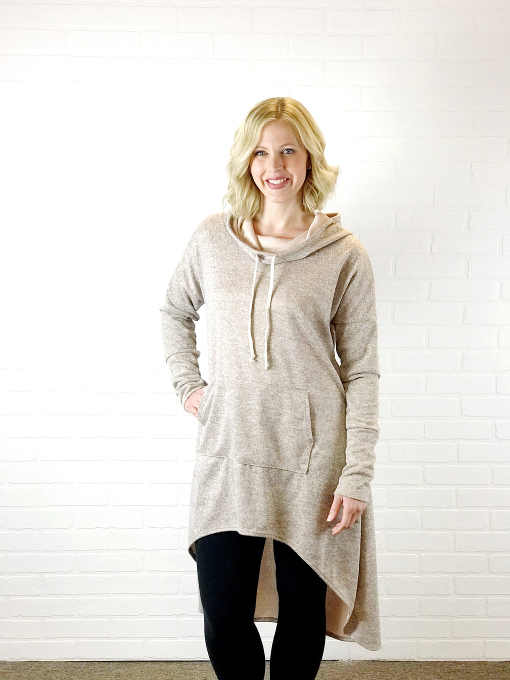 London Thumbhole Pullover - Taupe