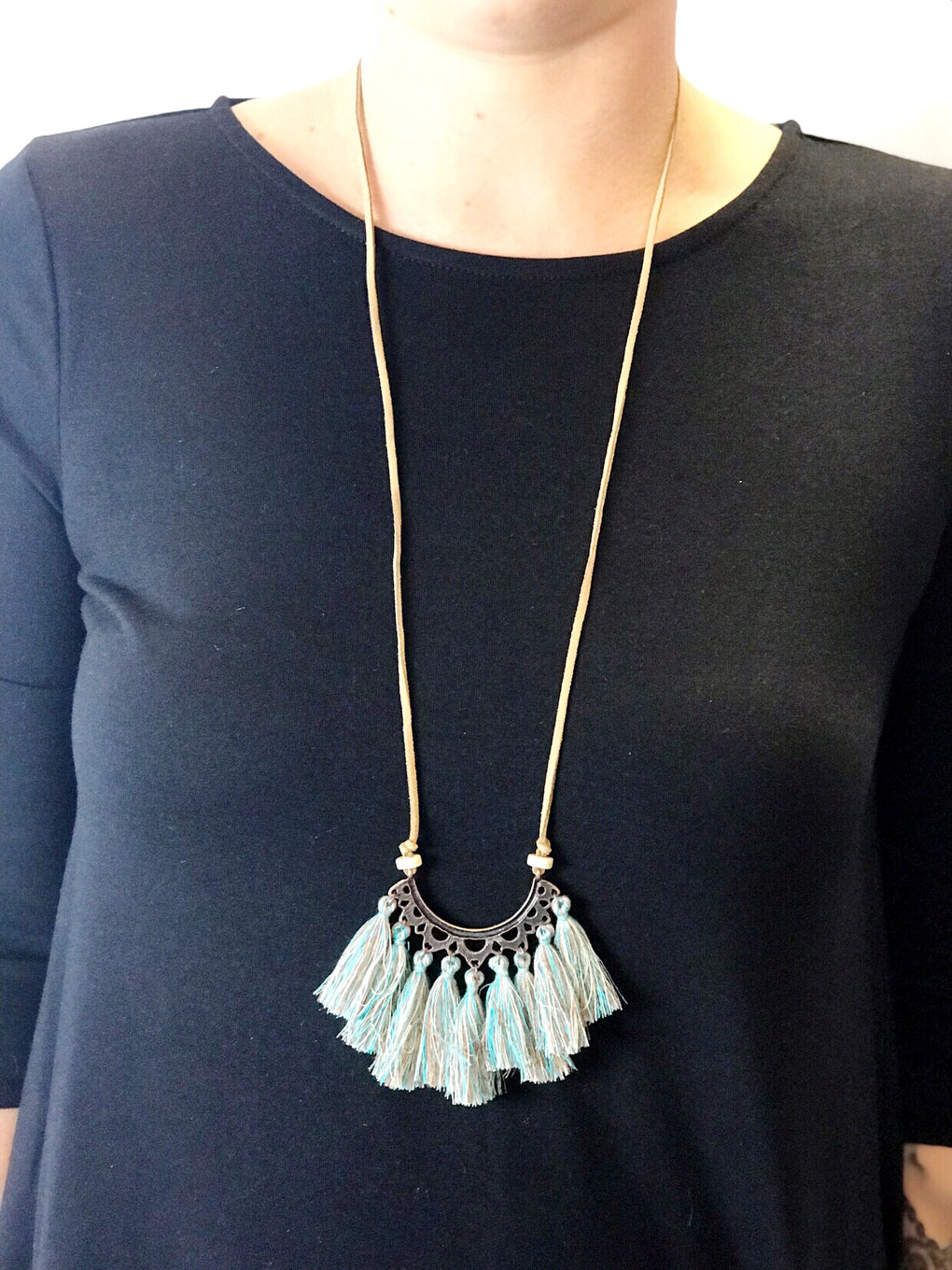 Tassel Fringe Necklace - assorted colors