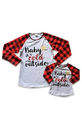 Kids' 'Baby It's Cold Outside' Top