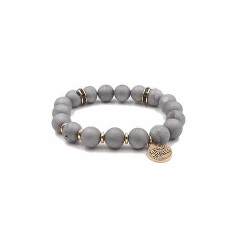 KINSLEY ARMELLE - GEODE COLLECTION - SLATE BRACELET