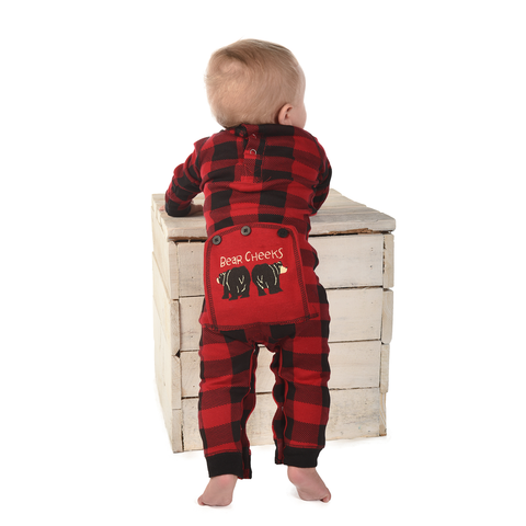 Lazy One - Bear Cheeks Plaid Infant Flapjacks