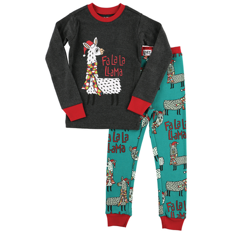Lazy One - Llama Kids Long Sleeve PJ Set