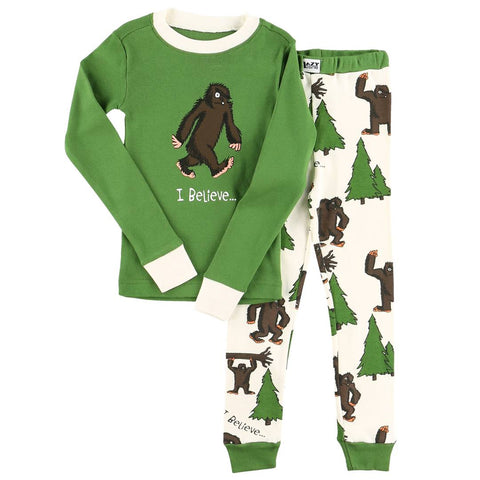 Lazy One - I Believe... Bigfoot Kids PJ Set