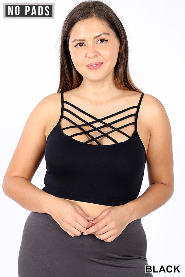 Copy of Back to Basics Criss Cross Bralette - Black