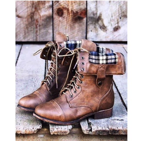 Nikki Lace Up Boots