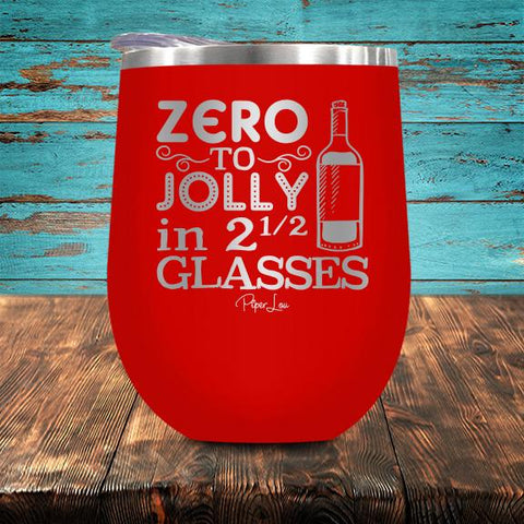 PIPER LOU INSULATED WINE CUP - ZERO TO JOLLY
