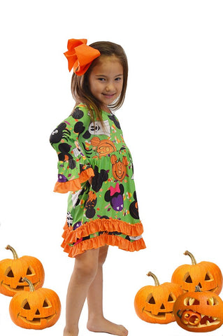 Girls Mickey & Minnie Halloween Dress