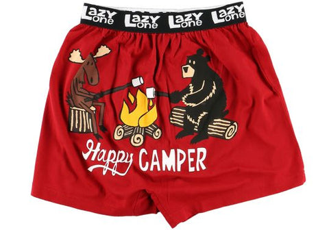 Lazy One - Happy Camper Funny Boxer