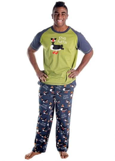 Lazy One - Stud Puffin Mens PJ Tee