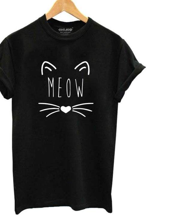 Meow Print T Shirt - MSstation & Book Club Store