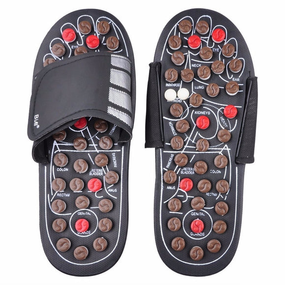 Foot Massage Slippers Health Shoe Sandal Massages Reflexology Feet Elderly Healthy Care Product Rest Pebble Stone Massager Shoes - MSstation & Book Club Store