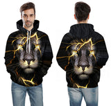 Men/Women 3D  Thin Lion Hooded Pullovers - MSstation & Book Club Store
