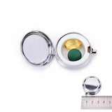Mini Round Silver Pill Case - MSstation & Book Club Store