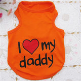 "Cute ""Love My Mommy"" ""Love My Daddy"" Dogs Vest - MSstation & Book Club Store"