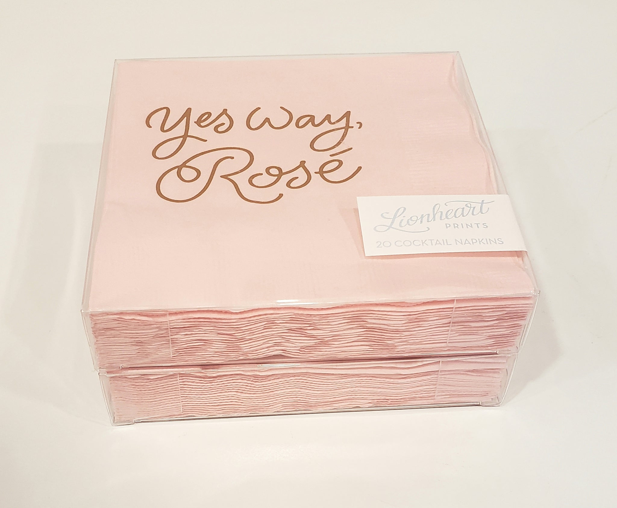 Yes Way Rosé cocktail Napkins - 318 Art and Garden