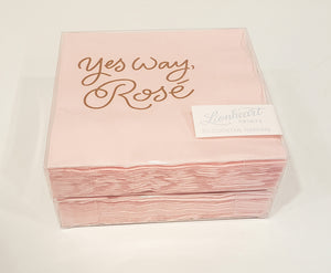 Yes Way Rosé cocktail Napkins