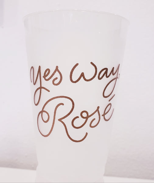 Yes Way Rosé Party Cups