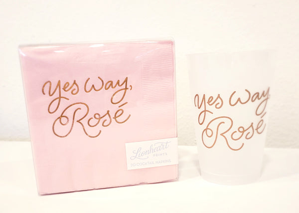 Yes Way Rosé Party Cups - 318 Art and Garden