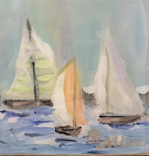 6X6 Sailboats Multi-Color