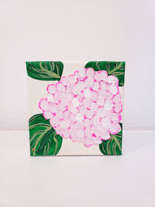 6X6 Pink Hydrangea Painting - 318 Art and Garden