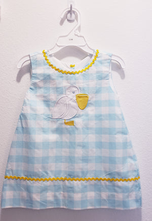Pelican Gingham Dress-12 month