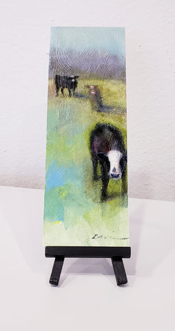 """Cows in Pasture"" 3X9 Print - 318 Art and Garden"