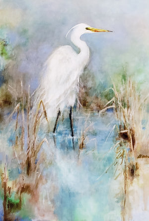 """Great White Egret"" Cards 6pk"