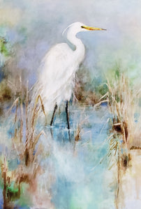 """Great White Egret"" Cards 6pk - 318 Art and Garden"