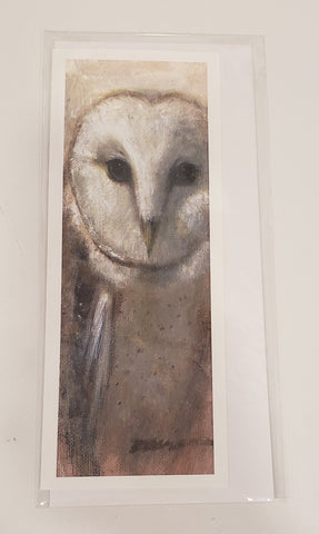 """Barn Owl"" Card - 318 Art and Garden"